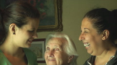 Family Generations, Grand Mother, Grand Daughter And Grand Grand Daughter Stock Footage