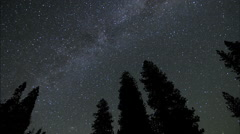 Milky way space ships time lapse faster Stock Footage