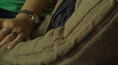 Hand Details Old And Young Woman, Generations, Elderly, Family, Love, Side, Pan Stock Footage