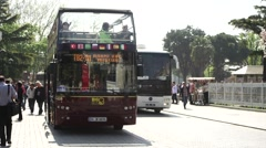 Tour bus in Istanbul Stock Footage