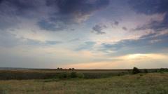 Movement of the clouds on the mountain. Village Belokuzminovka, Donetsk region,  Stock Footage