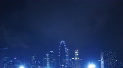 4k Ultra HD time lapse video of casino, CBD and flyer at dusk, Singapore Stock Footage