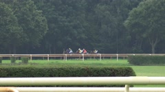 4k Horse Racing with 6 horses Stock Footage