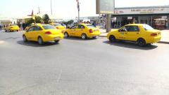 Istanbul Taxi Stock Footage