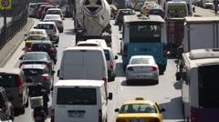 Traffic in Maslak, Istanbul Stock Footage