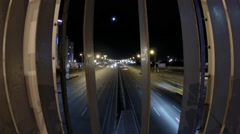 Higway from bridge night timelipse Stock Footage