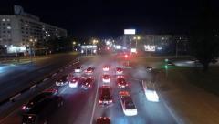 city traffic timelapse - stock footage