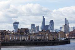 Taken from Canary Wharf, London, England, United Kingdom Stock Photos