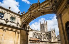 Bath Abbey, Bath, Avon and Somerset, England, United Kingdom - stock photo