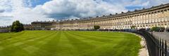 The Royal Crescent, Bath, Avon and Somerset, England, United Kingdom - stock photo