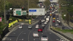 Time lapse traffic in Maslak, Istanbul Stock Footage