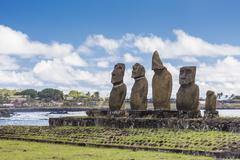 Easter Island (Isla de Pascua) (Rapa Nui), Chile Stock Photos