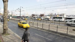 Kabatas Traffic in Istanbul Stock Footage