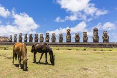 Easter Island (Isla de Pascua) (Rapa Nui), Chile Stock Photos