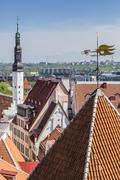 In the capital city of Tallinn, Estonia Stock Photos