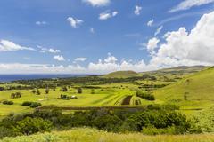 Rapa Nui National Park, Easter Island (Isla de Pascua), Chile Stock Photos