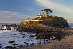 Battery Point Lighthouse, Crescent City, California, USA - stock photo