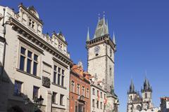 Old Town Square (Staromestske namesti), Prague, Bohemia, Czech Republic - stock photo