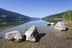 Alpsee Lake, Immenstadt, Allgau, Bavaria, Germany, Europe - stock photo
