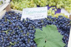 weekly market, market place, Esslingen, Baden Wurttemberg, Germany - stock photo