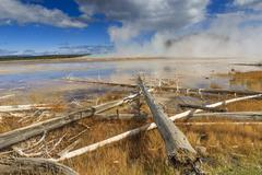 Midway Geyser Basin, Yellowstone National Park, Wyoming, USA Stock Photos