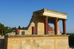 Minoan archaeological site of Knossos, Crete, Greek Islands, Greece - stock photo