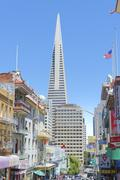 TransAmerica Building from Chinatown, San Francisco, California, USA Stock Photos
