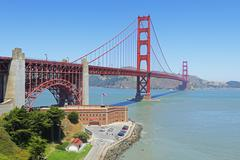 Golden Gate Bridge and Fort Point, San Francisco, California, USA - stock photo