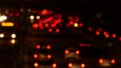 Cars' Lights in Traffic Stock Footage