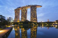 Marina Bay Sands Hotel, Singapore, Southeast Asia, Asia Stock Photos