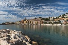 Menton, Provence-Alpes-Cote d'Azur, French Riviera, France, Mediterranean Stock Photos