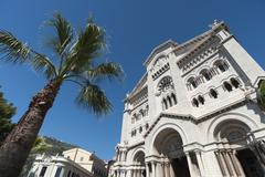 Monaco Cathedral, Principality of Monaco, Cote d'Azur, Europe Stock Photos