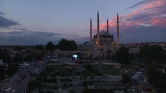 Time lapse, Selimiye Mosque in Edirne, Turkey Stock Footage