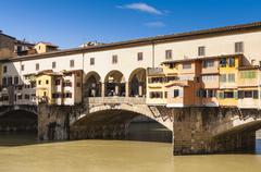 Ponte Vecchio and River Arno, Florence (Firenze), Tuscany, Italy Stock Photos