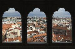 View over the city of Prague, Czech Republic, Europe - stock photo