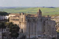 Sant'Agostino Convent in the Sassi area of Matera, Basilicata, Italy, Europe Stock Photos