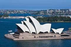 The famous Opera House, Sydney, New South Wales, Australia Kuvituskuvat