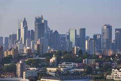 Skyline of Sydney, New South Wales, Australia, Pacific Stock Photos
