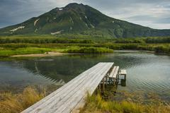 Hot river in the south of Kamchatka, Russia, Eurasia - stock photo