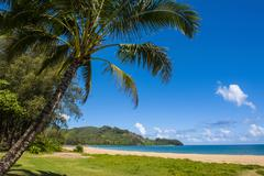 Bay of Hanalai on the island of Kauai, Hawaii, United States of America, Pacific Stock Photos