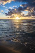 Sunset in Kauai, Hawaii, United States of America, Pacific - stock photo
