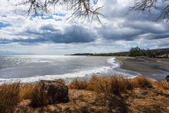 Glass beach in Port Allen, Kauai, Hawaii, United States of America, Pacific Stock Photos