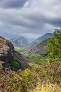 Hanapepe Valley lookout, Kauai, Hawaii, United States of America, Pacific - stock photo