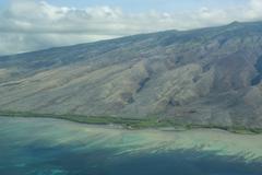 Aerial of the island of Molokai, Hawaii, United States of America, Pacific Kuvituskuvat