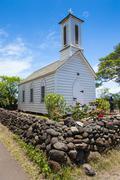 St. Joseph's church, island of Molokai, Hawaii, United States of America Stock Photos