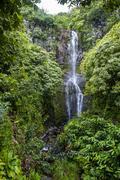 Makahiku Falls on the east coast of Maui, Hawaii, United States of America Stock Photos