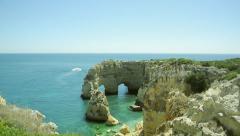 Praia da Marinha - one of the best beach in the world Stock Footage