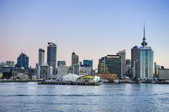 Skyline of Auckland, North Island, New Zealand, Pacific Kuvituskuvat