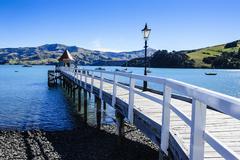 Banks Peninsula, Canterbury, South Island, New Zealand Stock Photos