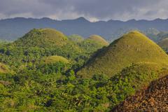 Chocolate Hills, Bohol, Philippines, Southeast Asia, Asia Stock Photos